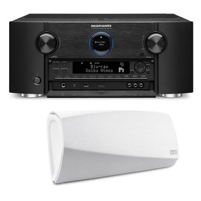 SR7011 9.2 Channel Full 4K Ultra HD AV Surround Receiver with Bluetooth and Wi-Fi with Denon HEOS 3 Dual-Driver Wireless Speaker System - Series 2
