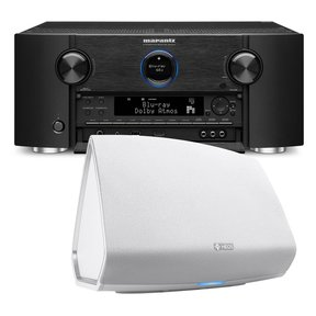 SR7011 9.2 Channel Full 4K Ultra HD AV Surround Receiver with Bluetooth and Wi-Fi with Denon HEOS 5 Four-Driver Wireless Speaker System - Series 2