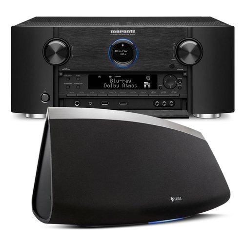 View Larger Image of SR7011 9.2 Channel Full 4K Ultra HD AV Surround Receiver with Bluetooth and Wi-Fi with Denon HEOS 7 Five-Driver Wireless Speaker System - Series 2