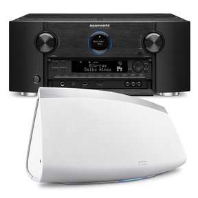 SR7011 9.2 Channel Full 4K Ultra HD AV Surround Receiver with Bluetooth and Wi-Fi with Denon HEOS 7 Five-Driver Wireless Speaker System - Series 2