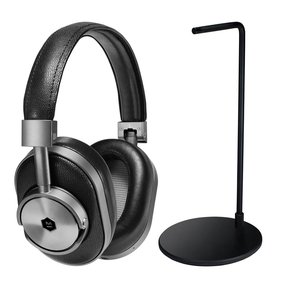 MW60 Wireless Over-Ear Headphones with Headphone Stand (Black)