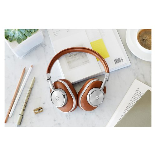 View Larger Image of MW60 Wireless Over-Ear Headphones with Headphone Stand (Brown/Silver)