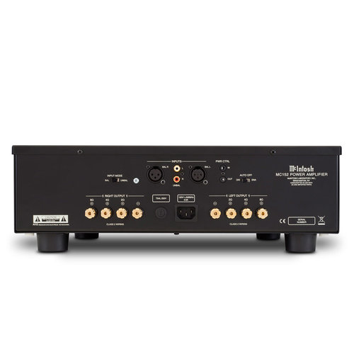 View Larger Image of MC152 Stereo 150 Watt Amplifier with Balanced and Unbalanced Inputs