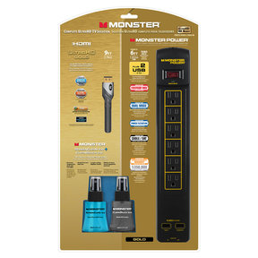 Power Gold Kit with Gold 600 AVU+ Power Center, Advanced High Speed HDMI, ScreenClean, and CleanTouch