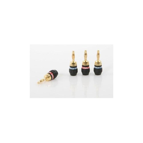 View Larger Image of QuickLock MKII Gold Banana Plugs/Connectors - 2 Pair (127757)