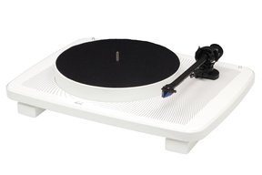 Ikura Split-Plinth Design Belt Driven Turntable (Gloss White)