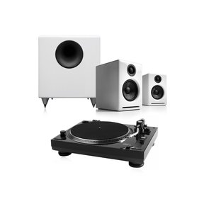 """USB-1 Turntable Package With Pair of Audioengine A2+ Desktop Speakers and S8 8"""" Subwoofer"""