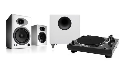 "View Larger Image of USB-1 Turntable Package With Pair of Audioengine A5+ Bookshelf Speakers and S8 8"" Subwoofer"