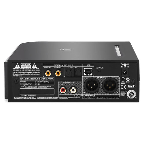 View Larger Image of D 1050 USB 24/192 DAC Computer Audio for HD Digital (Black)