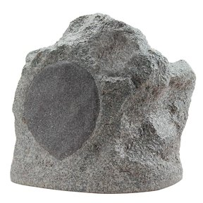 "RS6SiPRO 6-1/2"" Two-Way Dual Tweeter Weatherproof Rock Speaker - Each (Speckled Granite)"