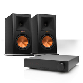 DDA120 Compact Integrated Amplifier with Klipsch RP-150M Reference Premiere Monitor Speakers