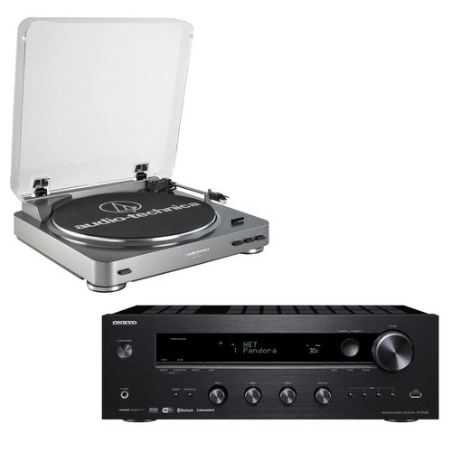 View Larger Image of TX-8140 Network Stereo Receiver with Built-In Wi-Fi & Bluetooth and Audio-Technica AT-LP60 Fully Automatic Stereo Turntable System with Two Speeds (Silver)