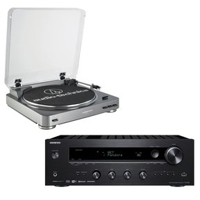 TX-8140 Network Stereo Receiver with Built-In Wi-Fi & Bluetooth and Audio-Technica AT-LP60 Fully Automatic Stereo Turntable System with Two Speeds (Silver)
