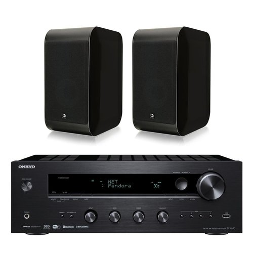 View Larger Image of TX-8140 Network Stereo Receiver with Built-In Wi-Fi & Bluetooth and Boston Acoustics M25B M-Series 2-Way Bookshelf Speaker - Pair (Gloss Black)