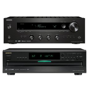 TX-8140 Network Stereo Receiver with Built-In Wi-Fi & Bluetooth and DX-C390 6-Disc Carousel CD Player