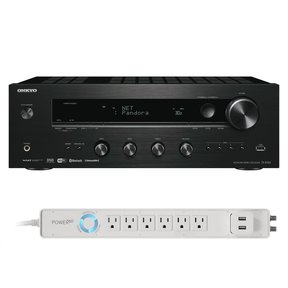 TX-8160 Network Stereo Receiver and 6-Outlet Floor Power Strip with USB Charging