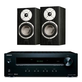 TX-8220 Stereo Receiver with Built-In Bluetooth and KLH Albany Bookshelf Speakers - Pair