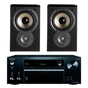 TX-NR575 7.2-Channel Network A/V Receiver with Polk TSi100 2-Way Bookshelf Speakers (Black)