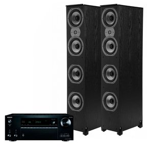 TX-NR777 7.2 Channel Network A/V Receiver with Polk TSi500 High Performance Towers (Black)