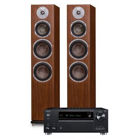 TX-RZ630 9.2-Channel Network AV Receiver and KLH Kendall 3-Way Floorstanding Speakers - Pair