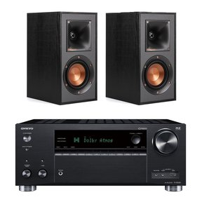 TX-RZ630 9.2-Channel Receiver with Klipsch R-41M Reference Bookshelf Speakers - Pair (Black)