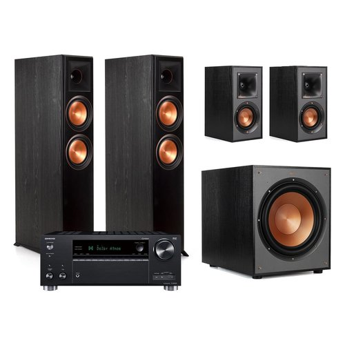 View Larger Image of Onkyo TX-RZ630 9.2-Channel Receiver with Klipsch RP-6000F Floorstanding Speakers and R-41M Bookshelf Speakers (Black)
