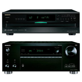 TX-RZ710 7.2 Channel A/V Wireless Network Receiver with DX-C390 6-Disc Carousel CD Changer