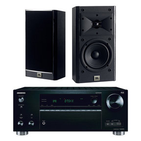 """TX-RZ710 7.2 Channel A/V Wireless Network Receiver with JBL Arena 120 2-Way 5 1/2"""" Bookshelf Loudspeakers - Pair (Black)"""