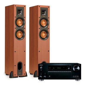 TX-RZ710 7.2 Channel A/V Wireless Network Receiver with Klipsch R-24F Reference Floorstanding Speakers (Cherry)