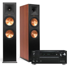 TX-RZ710 7.2-Channel Network A/V Receiver with Klipsch RP-280F Reference Premiere Floorstanding Loudspeaker Pair (Cherry)
