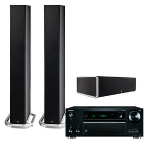 TX-RZ710 7.2 Channel Network Receiver with Definitive Technology BP9060 Floor Standing Speaker Pair and CS9060 Center Channel