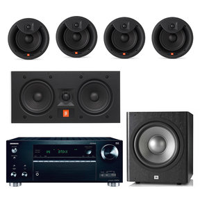 "TX-RZ710 Home Theater Wireless Network Receiver with JBL Arena 6"" 5.1 Channel In-Ceiling/In-Wall Loudspeaker Bundle"