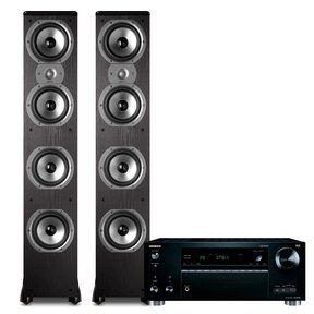 TX-RZ720 7.2-Channel 4K Network A/V Receiver with Polk TSi500 Floorstanding Speaker Pair (Black)