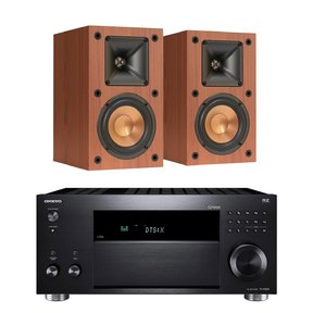 TX-RZ820 7.2-Channel Network A/V Receiver with Klipsch R-14M Reference Monitor Speakers - Pair (Cherry)