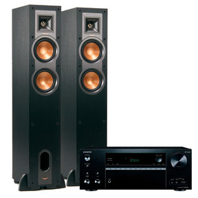 TXNR676 7.2-Channel A/V Receiver with Klipsch R-24 Floorstanding Speakers - Pair (Black)