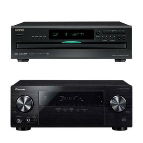 VSX-532 5.1-Channel AV Receiver with Onkyo DXC-390 6-Disc CD Changer