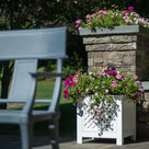 View Larger Image of AZEK Fairfield Outdoor Planter Speaker with 180-Degree Stereo Sound - Each (White)