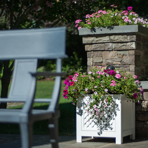 View Larger Image of AZEK Fairfield Outdoor Planter Speakers with 90-Degree Sound - Pair (White)