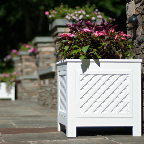 View Larger Image of AZEK North Salem Outdoor Planter Speakers - Pair (White)