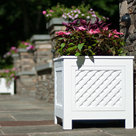 View Larger Image of AZEK North Salem Outdoor Planter Speakers with 180-Degree Sound - Pair (White)