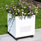 View Larger Image of Metropolitan Outdoor Planter Speakers with 180-Degree Sound - Pair (White)