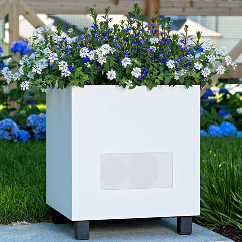 View Larger Image of Metropolitan Outdoor Planter Speakers with 90-Degree Sound - Pair (White)