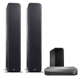 2.1 S60 Hi-Fi Home Theater Speaker System with HEOS AVR 5.1 Channel AV Receiver and HEOS Wireless Subwoofer (Black)