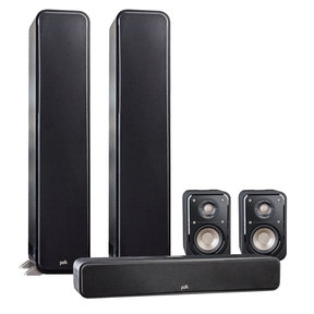 5.0 Signature Series S55 Home Theater Package with S15 Bookshelf Speakers and S35 Slim Center Speaker