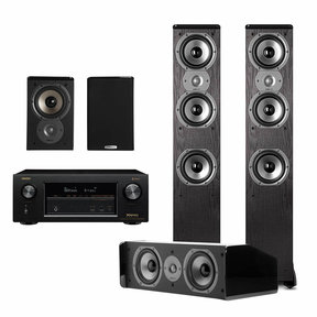 TSi400 50 Home Theater Package Black And Denon AVRX3400 Receiver Polk Audio