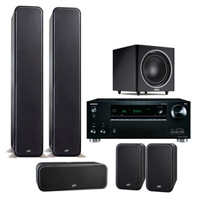 Signature S60 7.1 Channel Home Theater Package with Onkyo TX-RZ710 7.2 Channel Network AV Receiver
