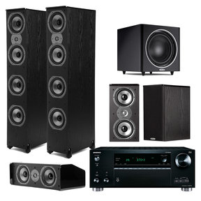 TSi 500 7.1 Home Theater Package with Onkyo TX-RZ710 7.2 Channel Network A/V Receiver