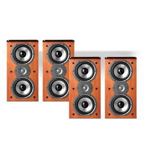TSi200 2-Way Bookshelf Speaker Package - set of two pairs (Cherry)