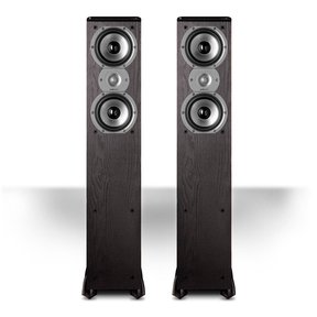 "TSi300 3-Way Tower Speakers with Two 5-1/4"" Drivers - Pair (Black)"