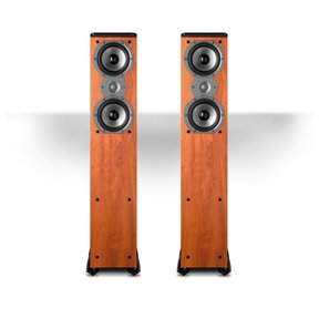"TSi300 3-Way Tower Speakers with Two 5-1/4"" Drivers - Pair (Cherry)"